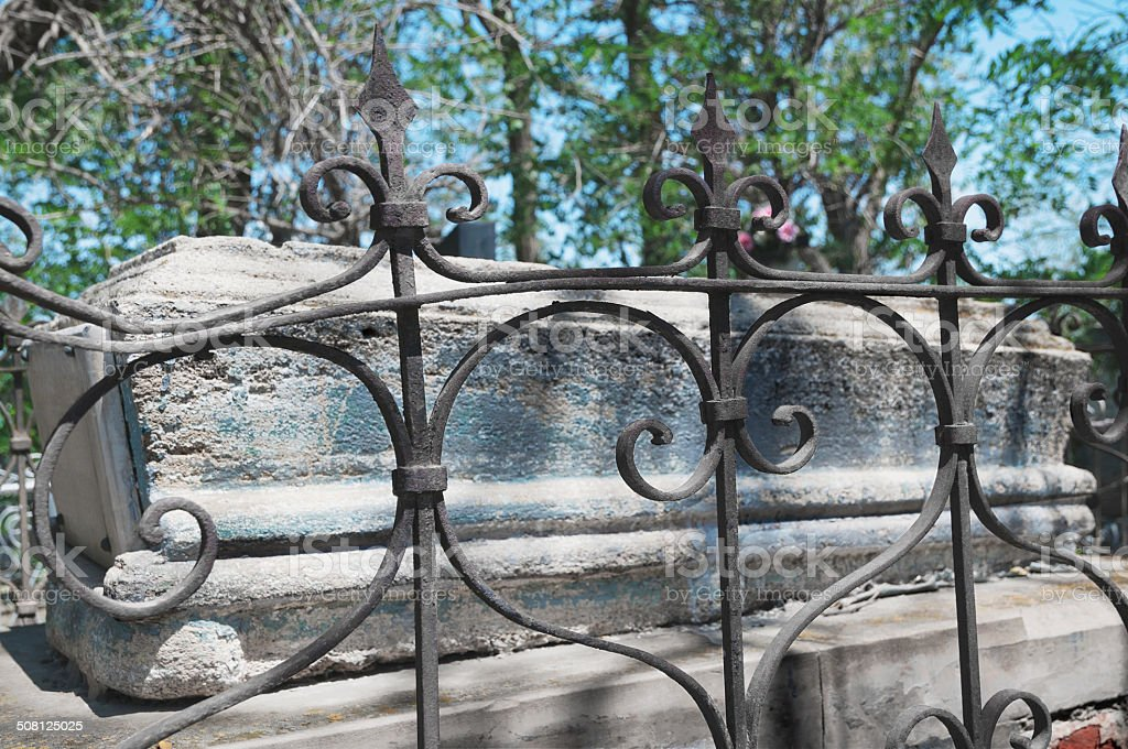 Old iron decorative grille royalty-free stock photo