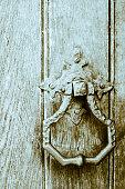 Old Iron Door Knockers on Wooden Doors