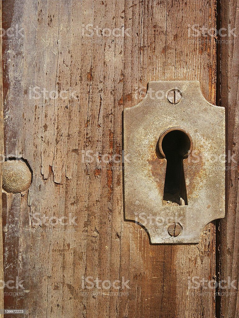 Old iron lock royalty-free stock photo