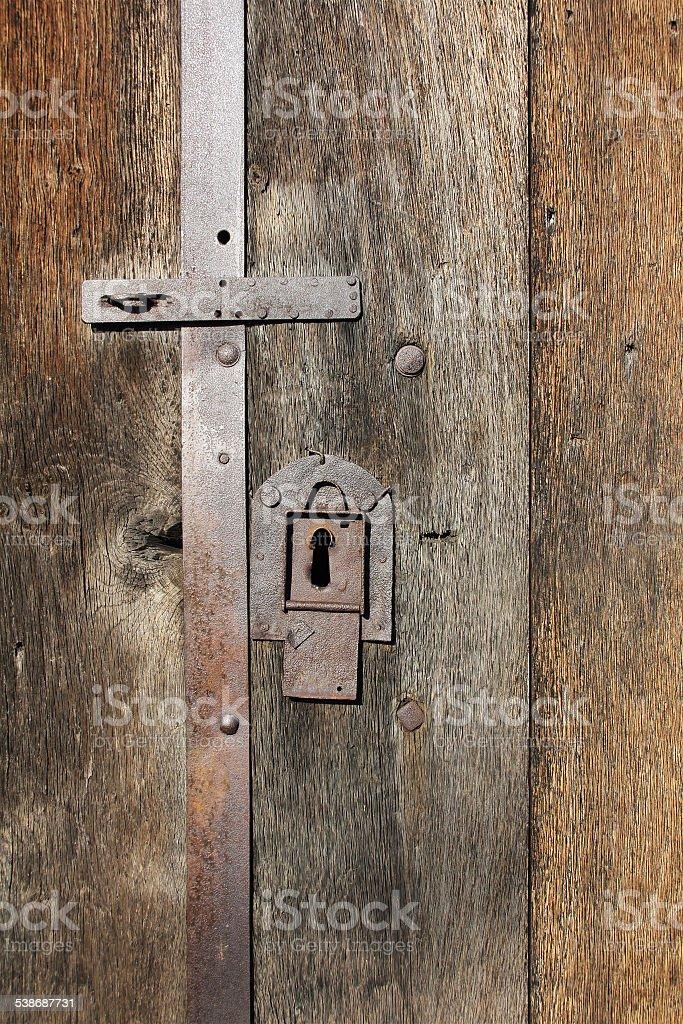 Old iron lock stock photo