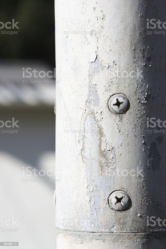 Pila de hierro anterior foto de stock libre de derechos