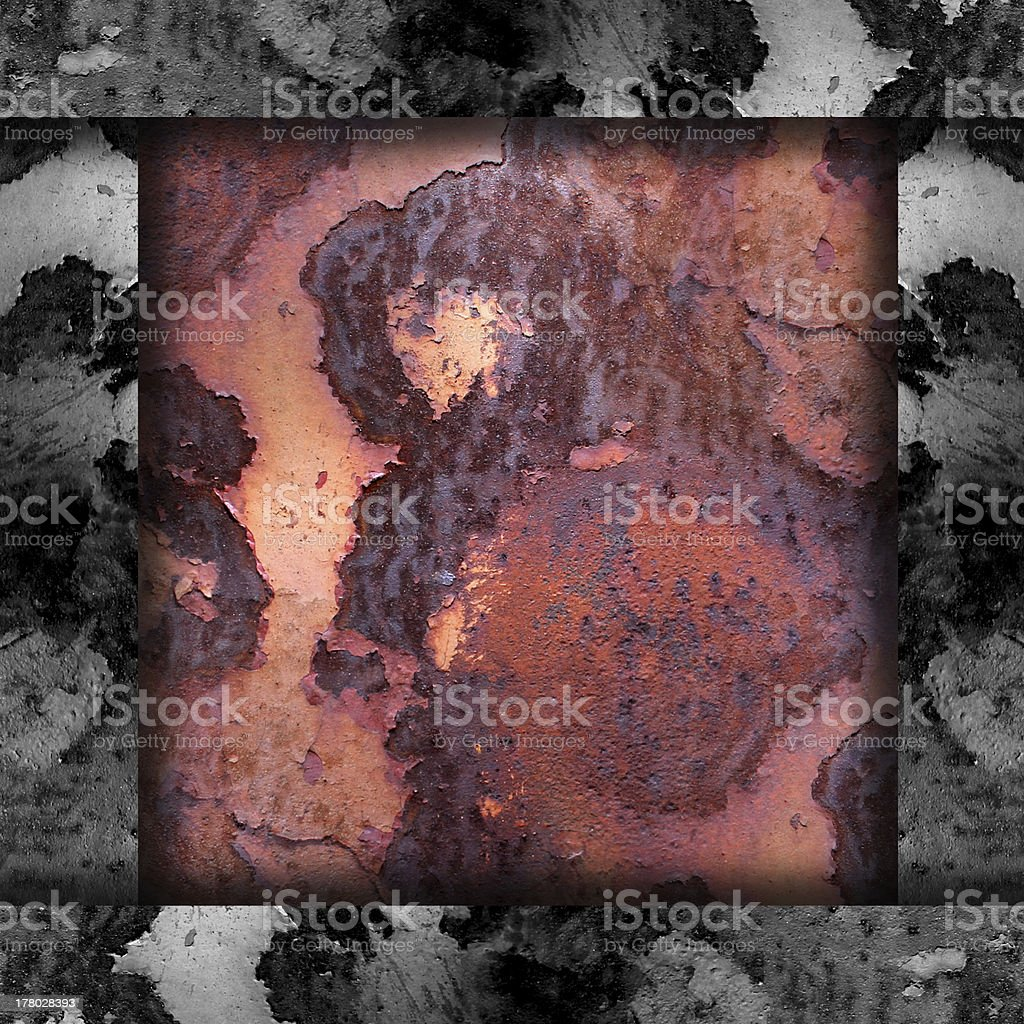 old iron red background  texture with rust and scuffed wallpaper royalty-free stock photo