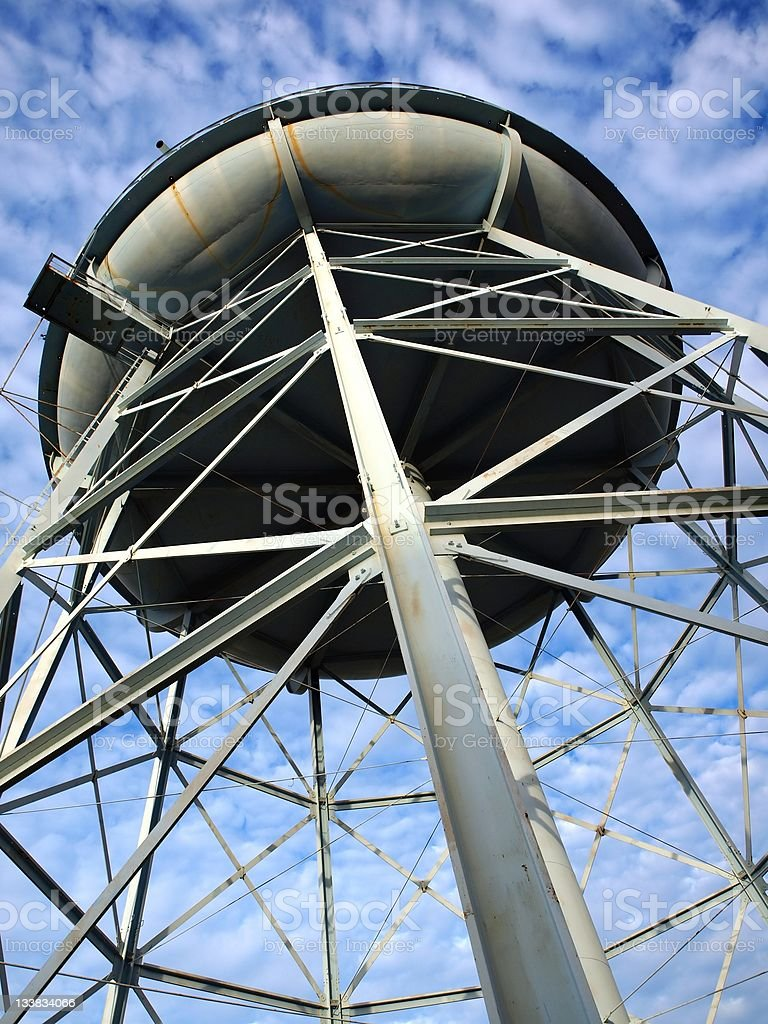 Old Iron Water Tower stock photo