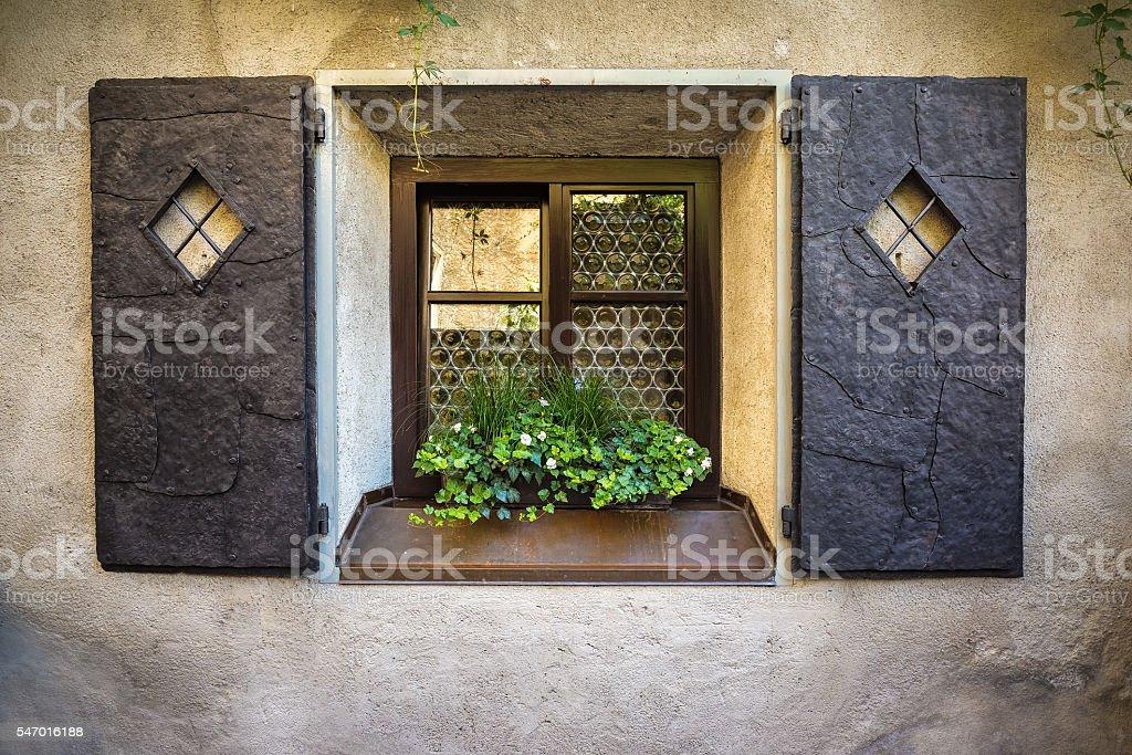 Old iron window stock photo