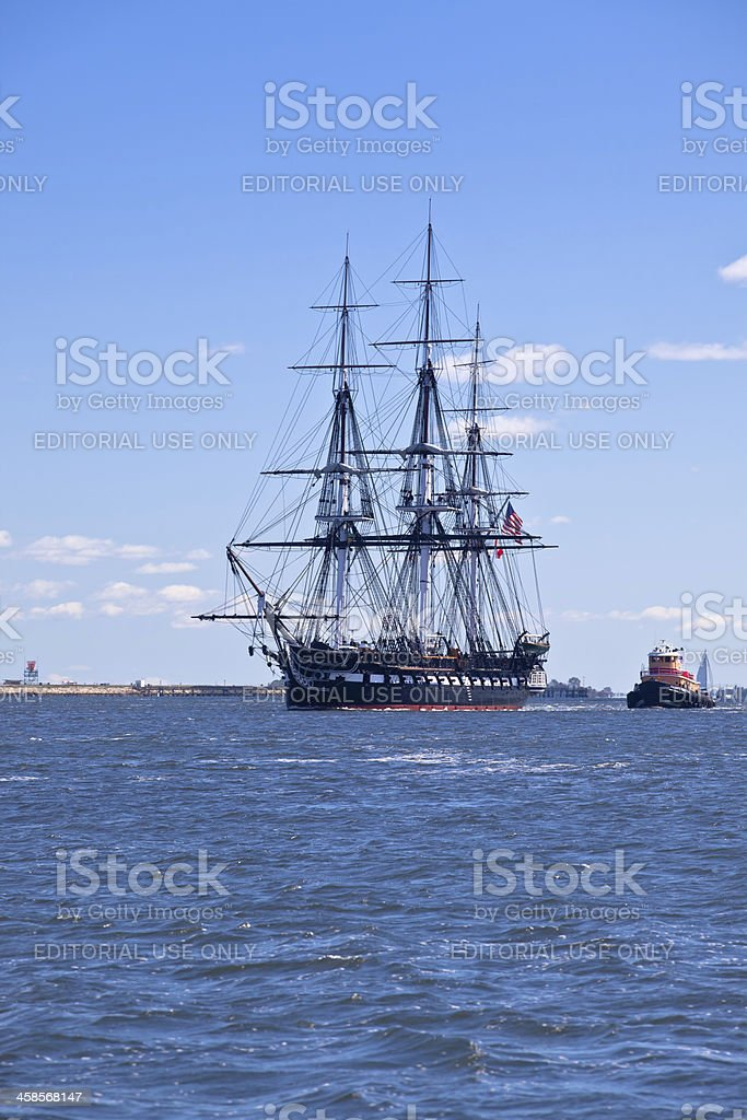 Old Ironside, the USS Constitution royalty-free stock photo