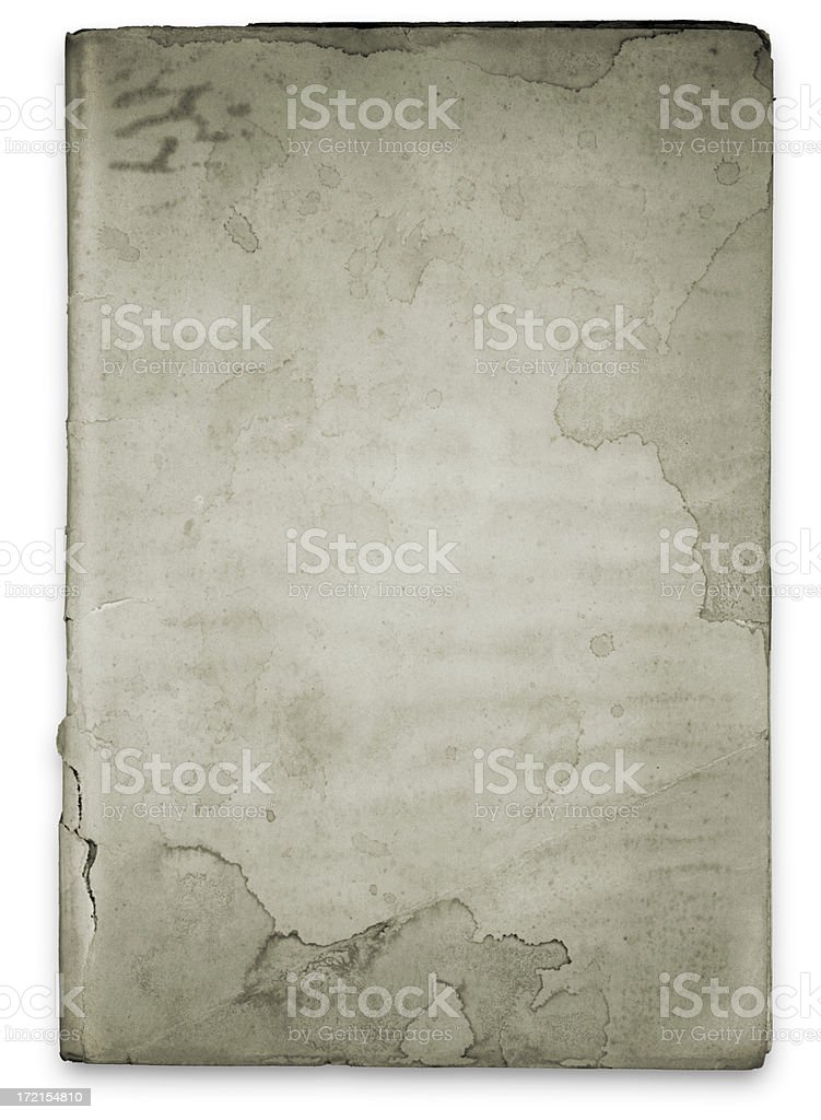 Old Isolated Blank Book (with Clipping Path) royalty-free stock photo