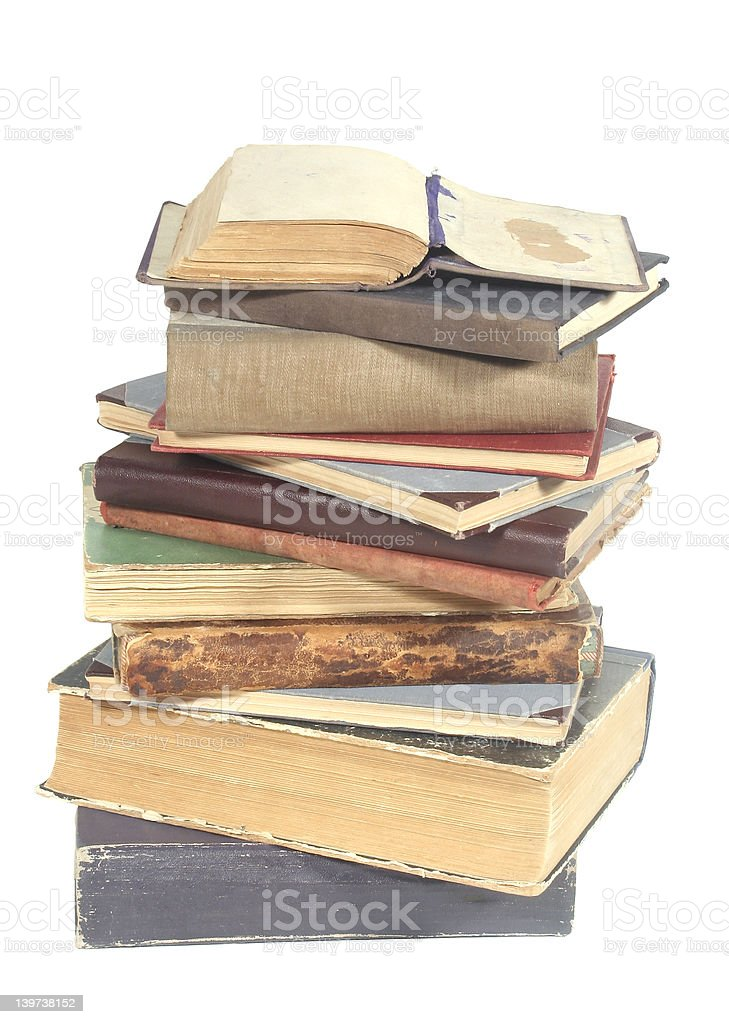 old isolated books royalty-free stock photo