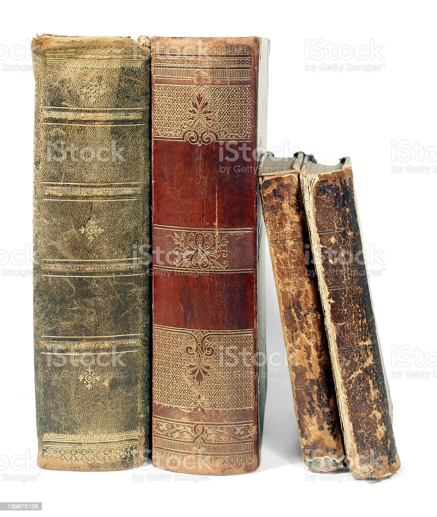 old isolated books stock photo
