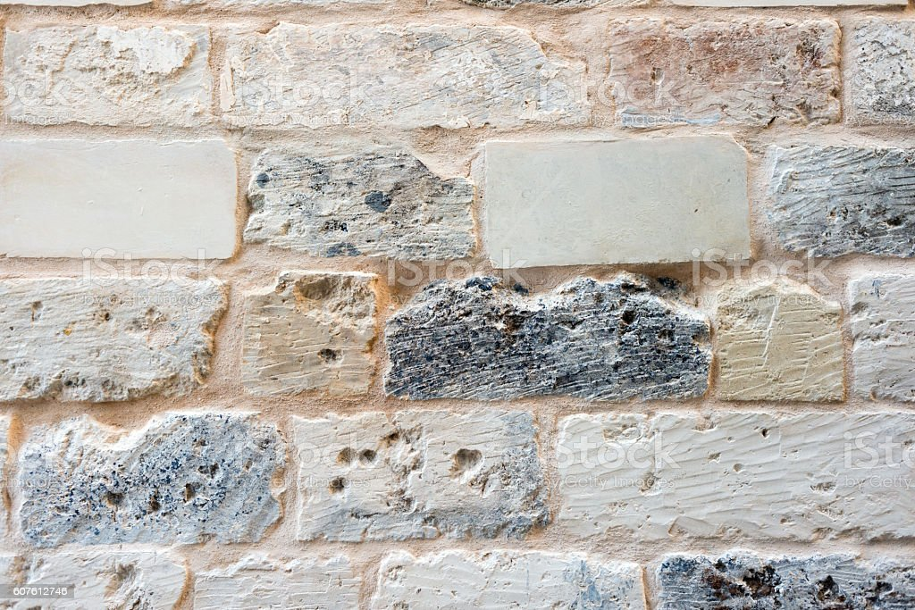 Old Italian brick wall texture stock photo