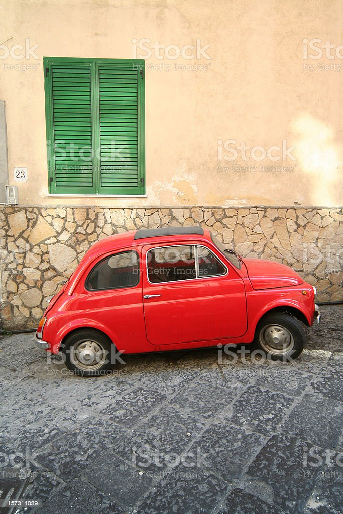 Old Italian Car FIAT 500 stock photo
