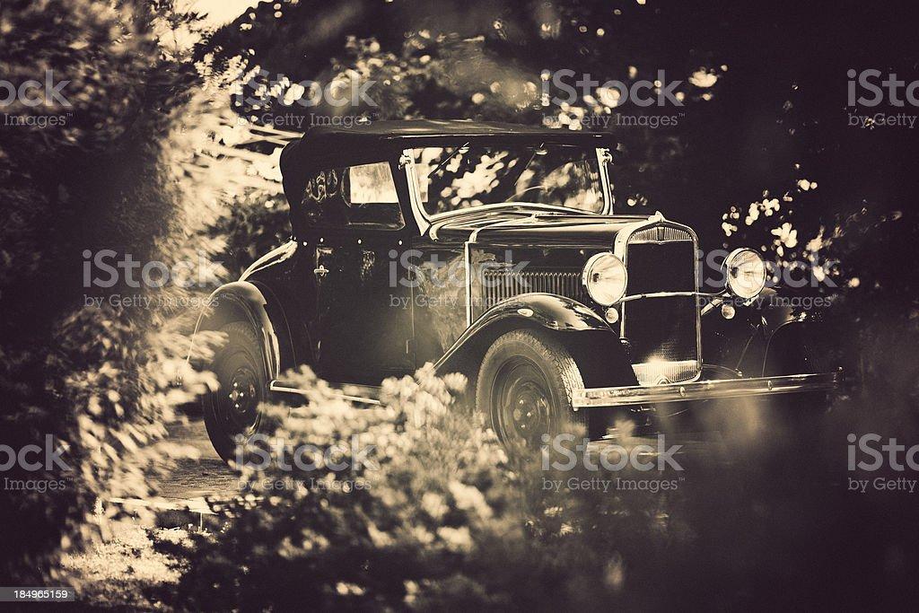 old italian car from 1921 stock photo