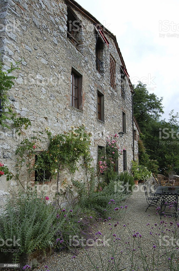 old Italian farm house royalty-free stock photo