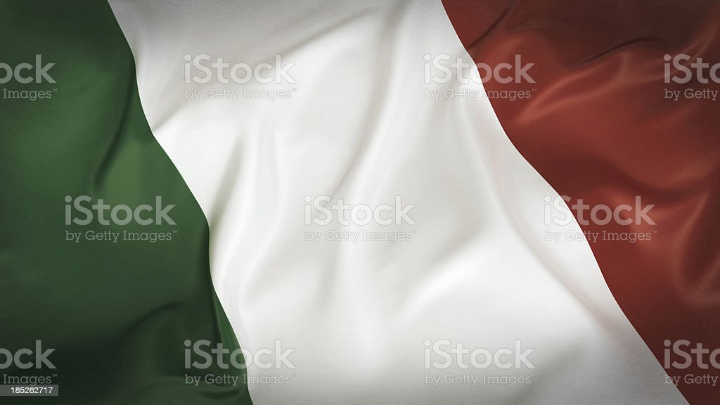 Old Italian Flag royalty-free stock photo