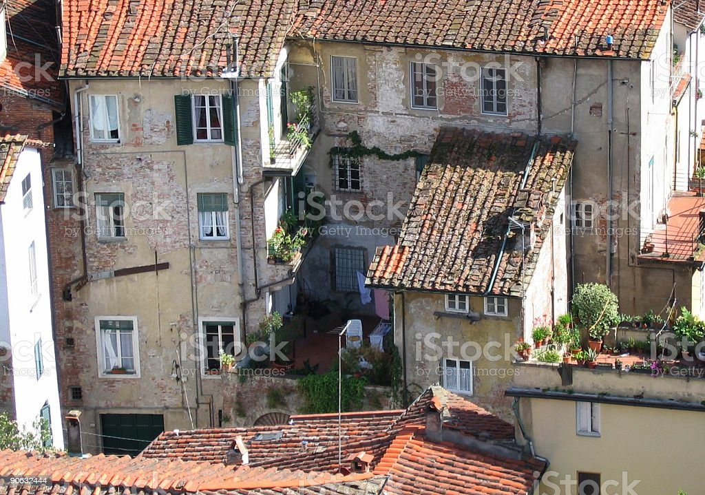 old italian houses royalty-free stock photo