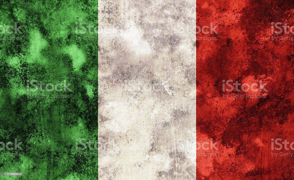 Old Italian or Mexican flag royalty-free stock photo