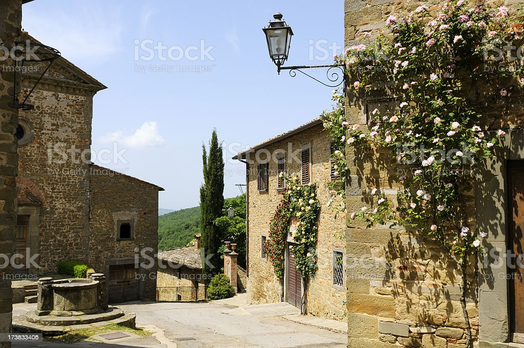 Old Italian Village Alley,Tuscany. royalty-free stock photo