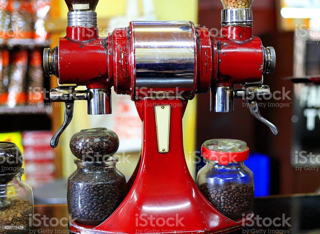 Old italian-style coffee grinder. Addis Ababa-Ethiopia. 0533 stock photo