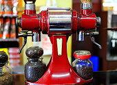 Old italian-style coffee grinder. Addis Ababa-Ethiopia. 0533