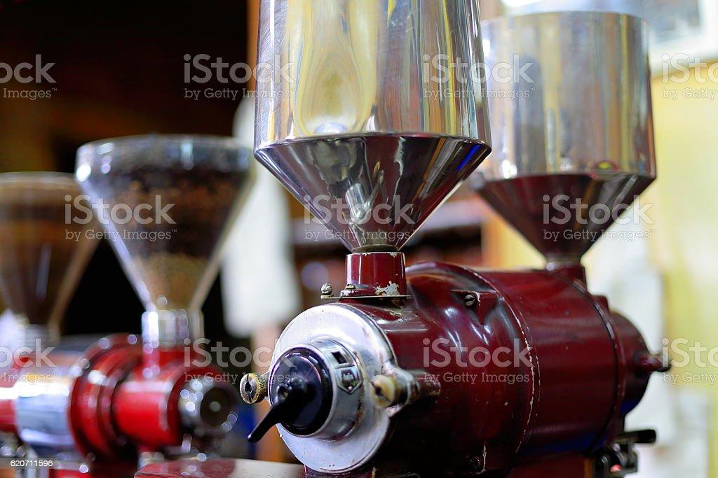 Old italian-style coffee grinders. Addis Ababa-Ethiopia. 0534 stock photo