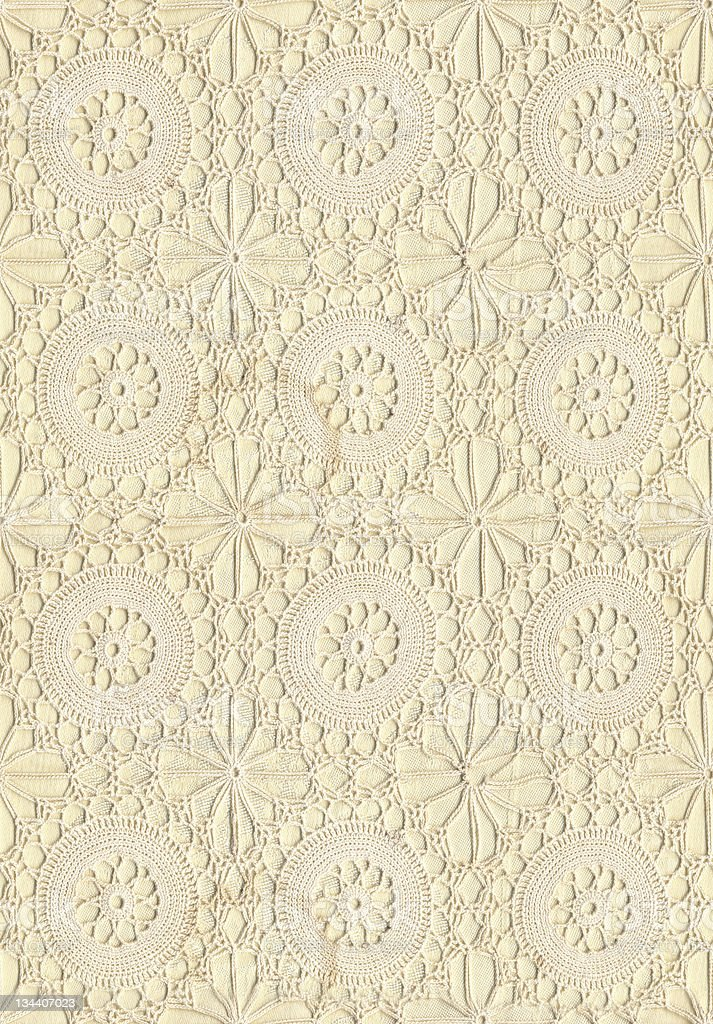 Old Ivory Crochet Lace royalty-free stock photo