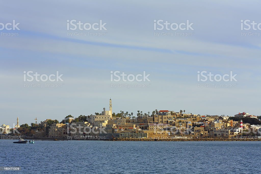 Old Jaffa from the sea royalty-free stock photo
