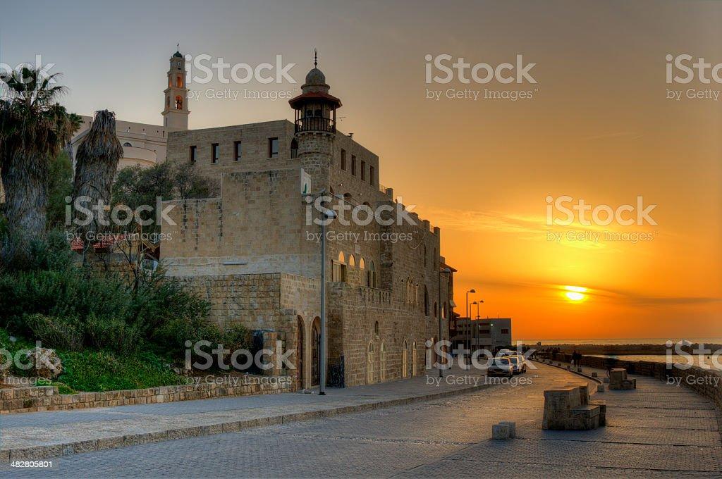 Old Jaffa in Tel Aviv, Israel stock photo