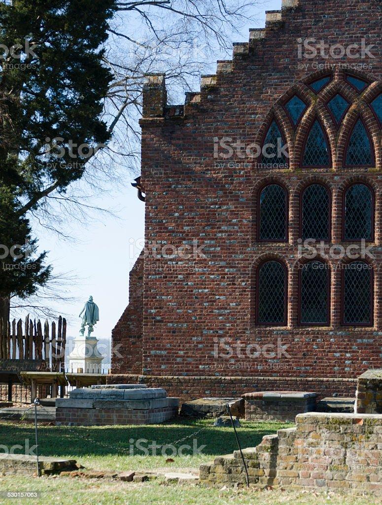 Old Jamestown stock photo