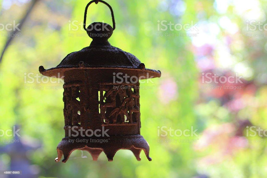 old japanese lantern stock photo