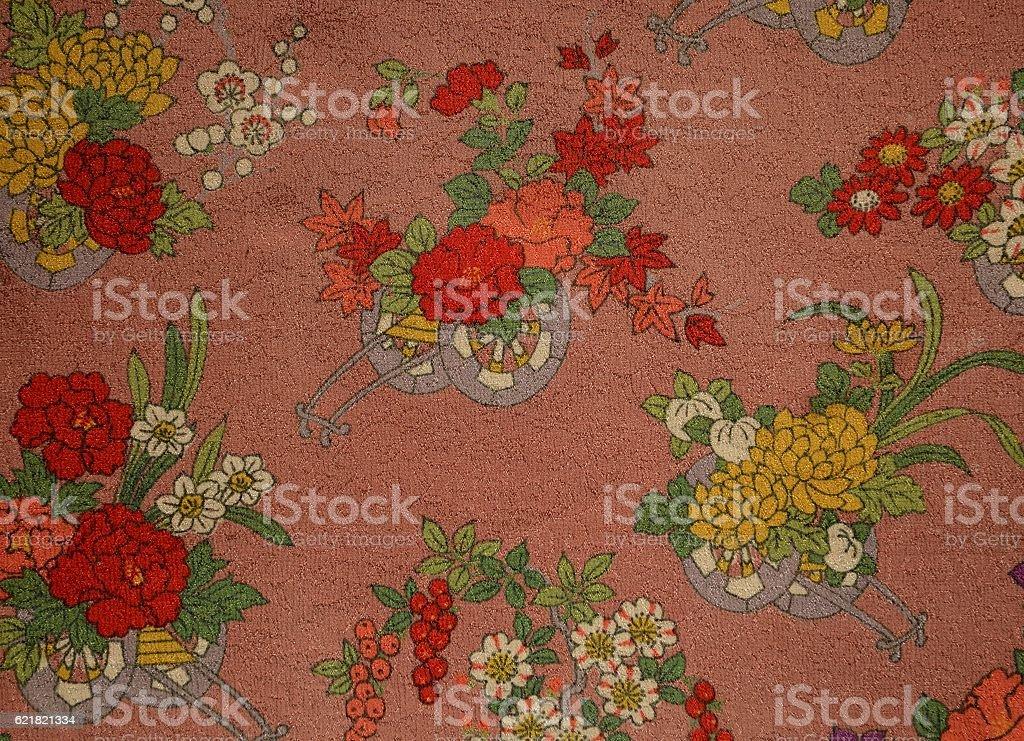 Old Japanese silk stock photo