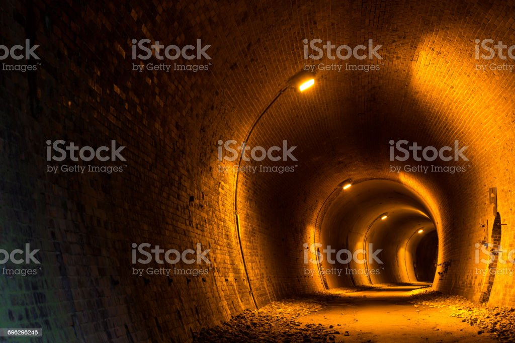 Old Japanese tunnel stock photo