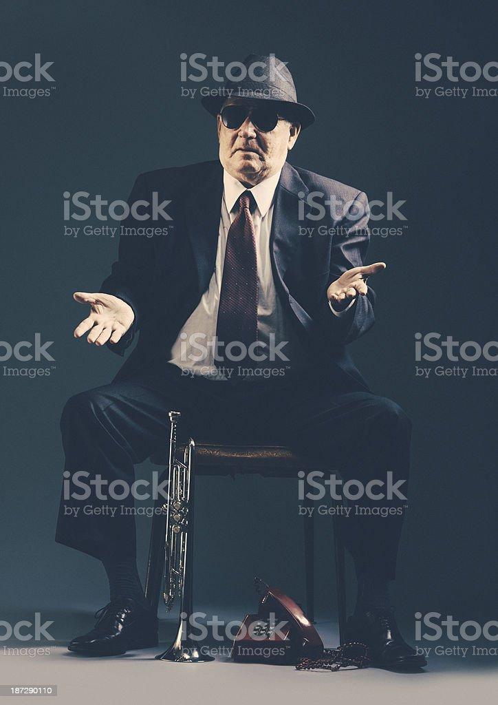 old jazz musician stock photo