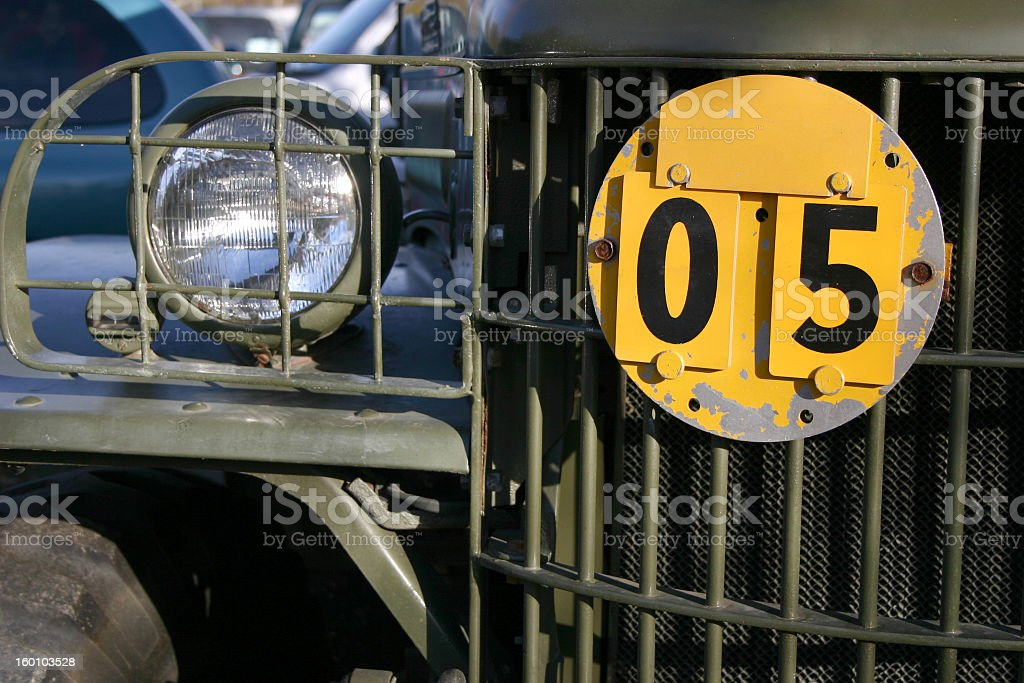 Old Jeep Front 05 royalty-free stock photo
