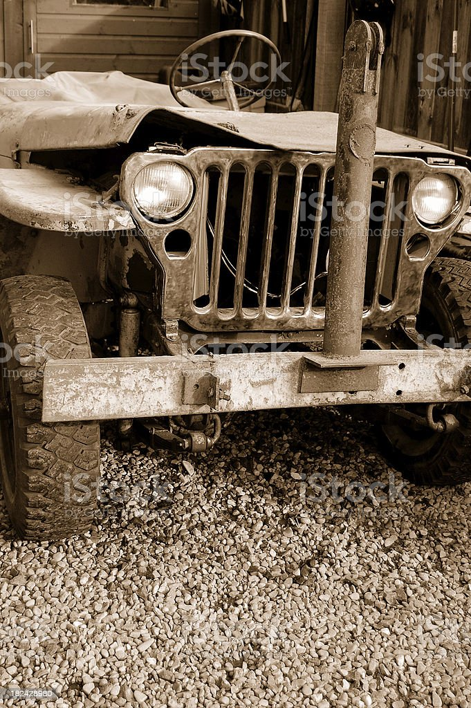 Old Jeep. stock photo