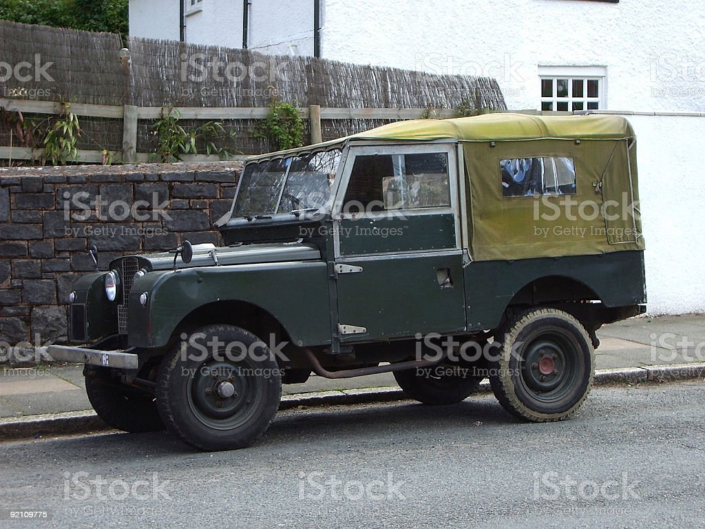 Old Jeep stock photo