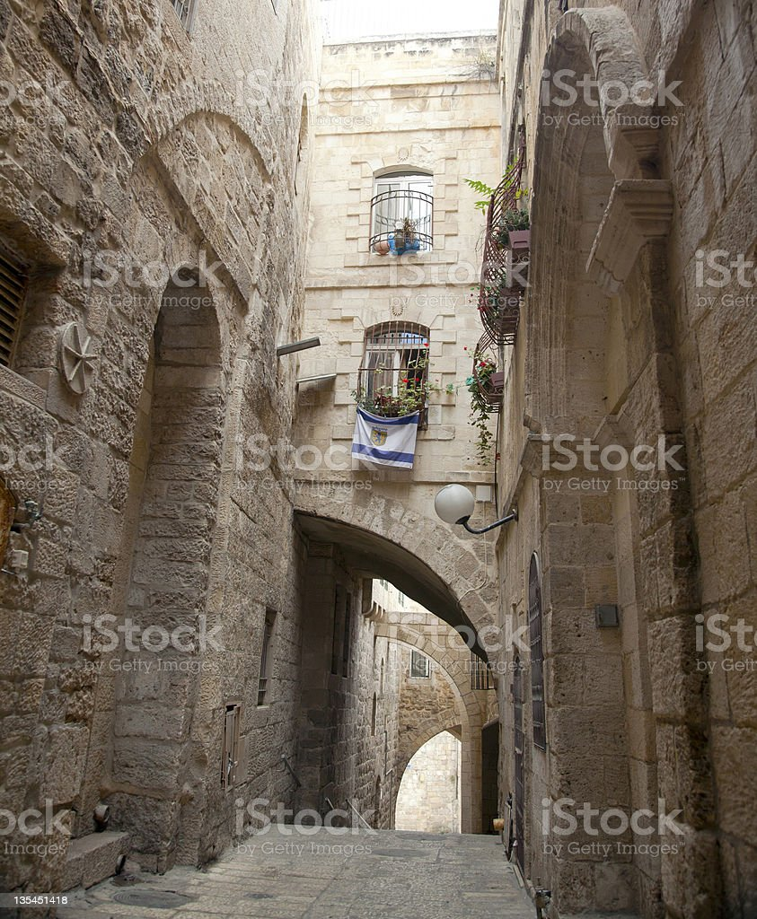 Old Jerusalem Alley royalty-free stock photo