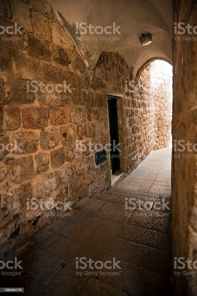 Old Jerusalem Alley stock photo