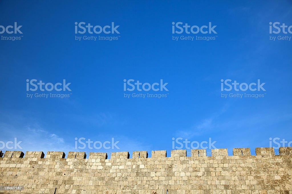 Old Jerusalem City Wall royalty-free stock photo