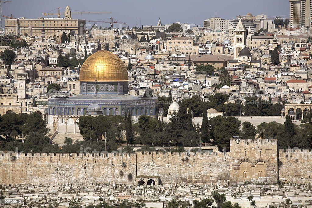 Old Jerusalem - Dome of the Rock royalty-free stock photo