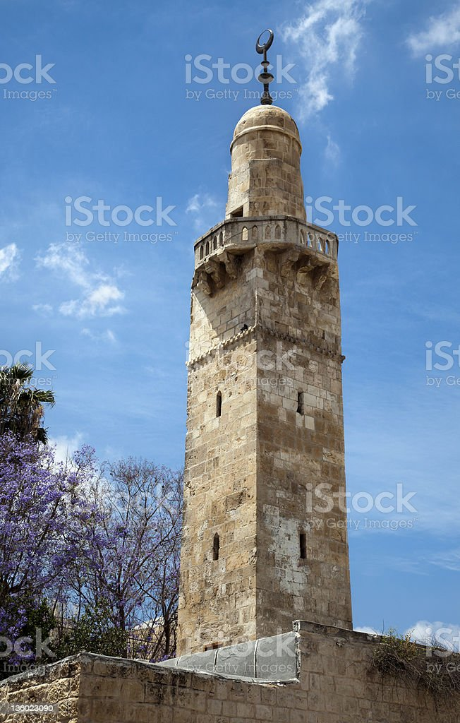 Old Jerusalem Mosque royalty-free stock photo