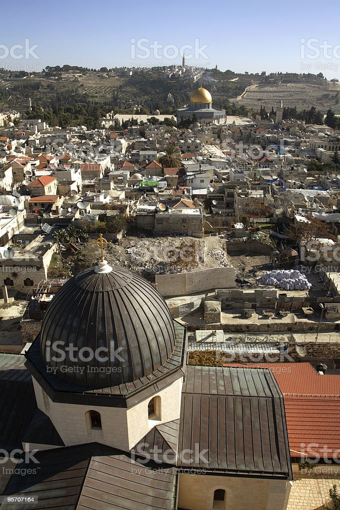 Old Jerusalem stock photo
