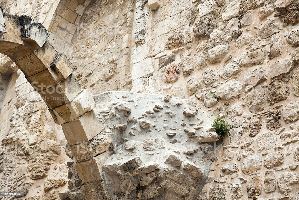 Old Jerusalem Ruins royalty-free stock photo