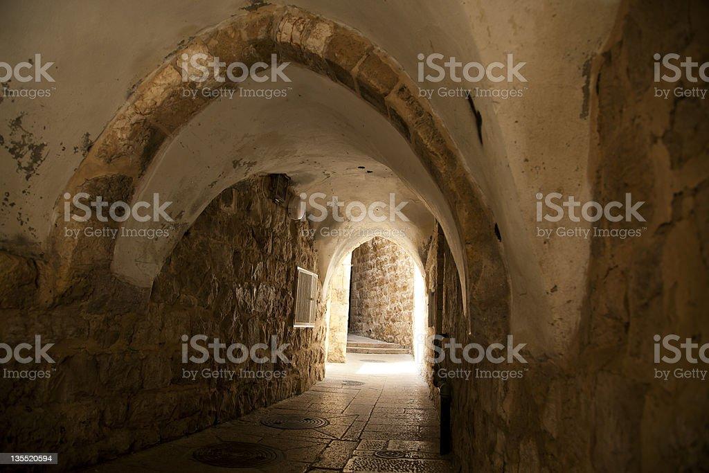Old Jerusalem Tunnel royalty-free stock photo