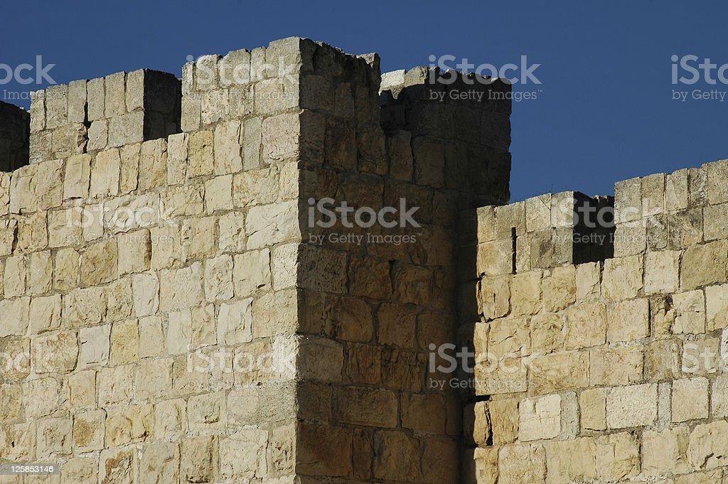 Old Jerusalem's Walls royalty-free stock photo