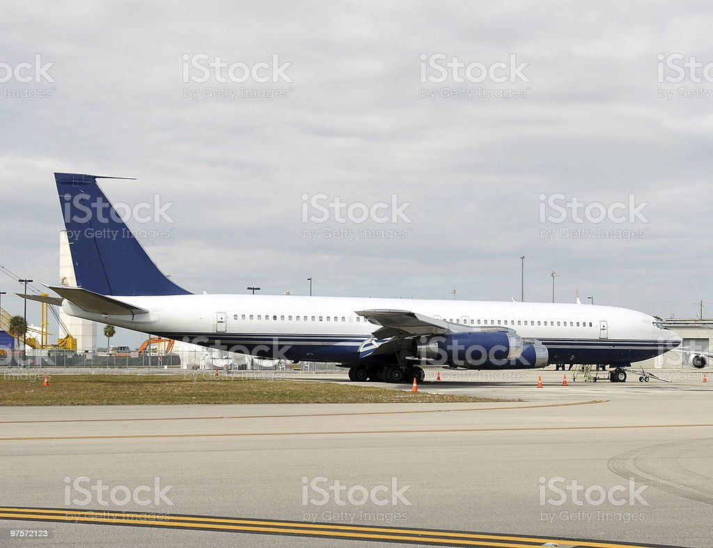 Old jet airplane royalty-free stock photo