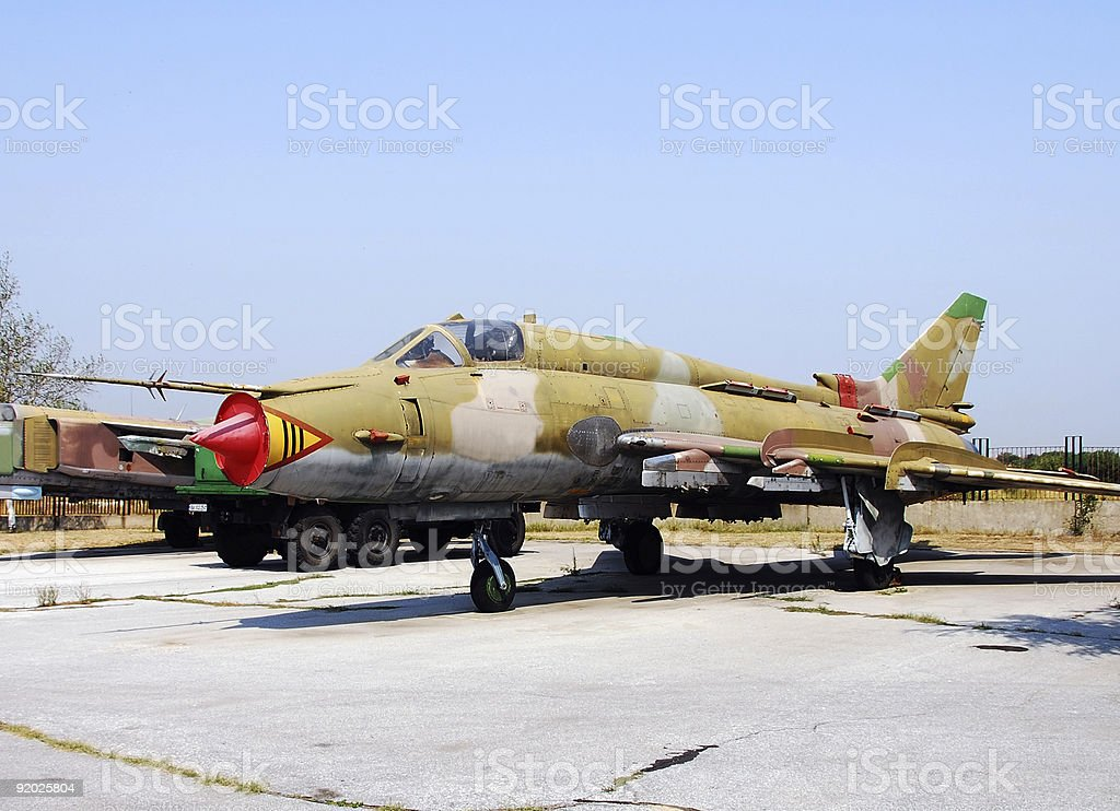 Old jetfighters royalty-free stock photo