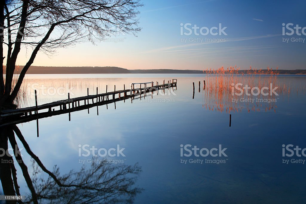 Old Jetty at Dawn royalty-free stock photo