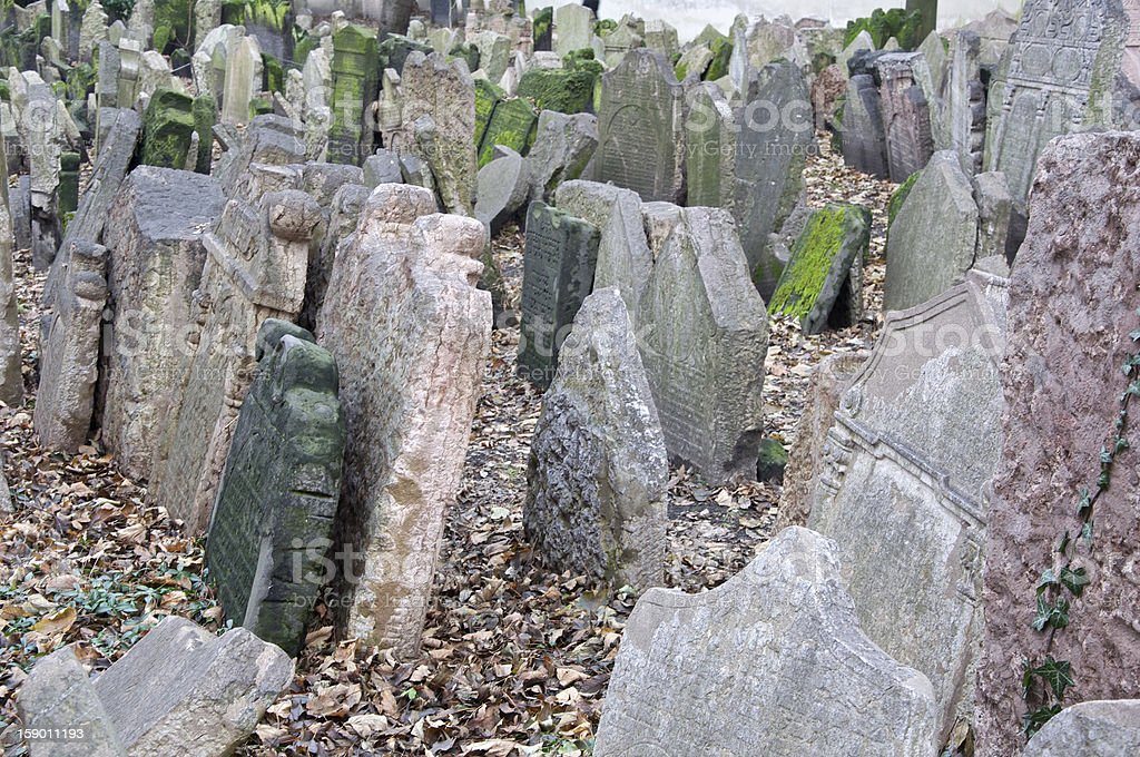 Old jewish cemetery in Prague royalty-free stock photo