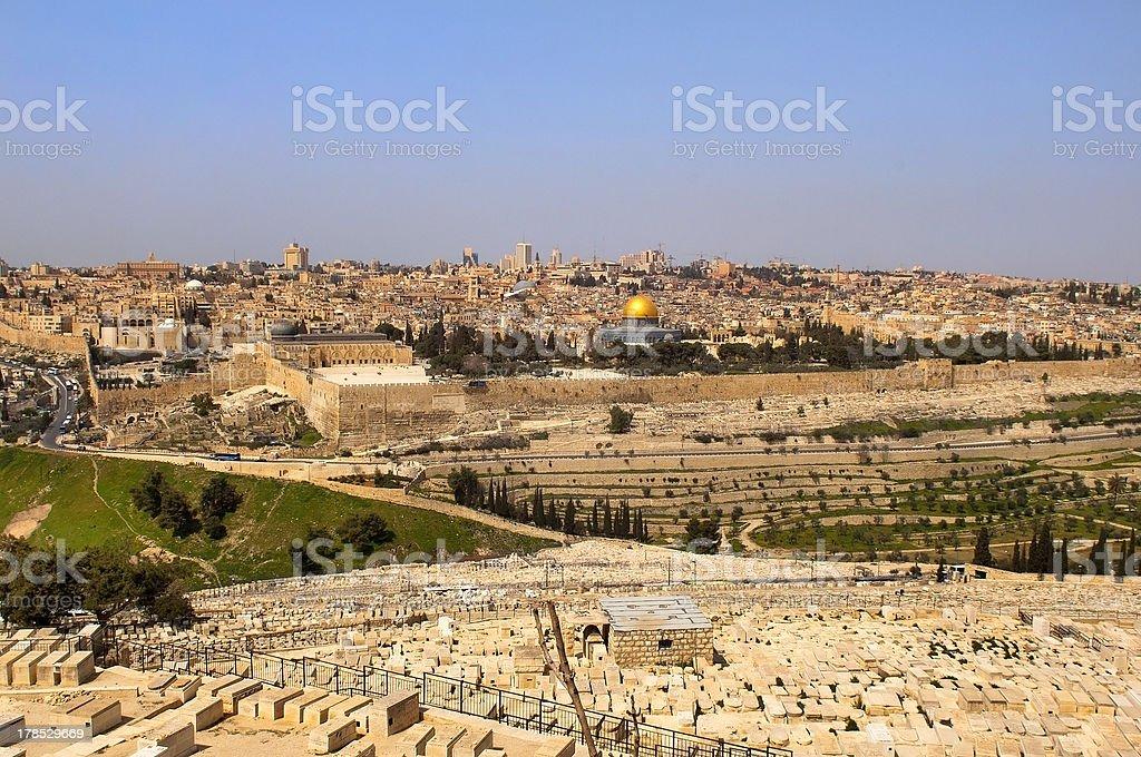 old Jewish cemetery .Jerusalem royalty-free stock photo