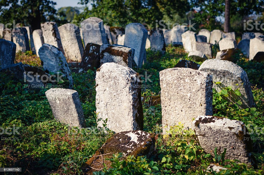 Old jewish cemetery, Poland stock photo