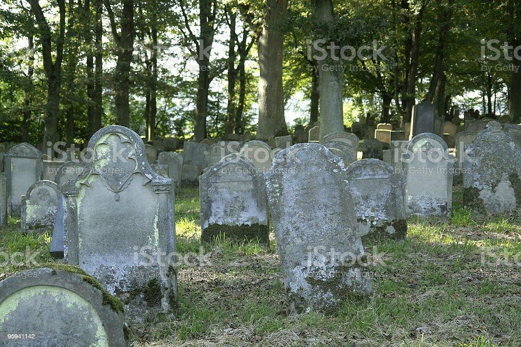 old jewish graveyard royalty-free stock photo